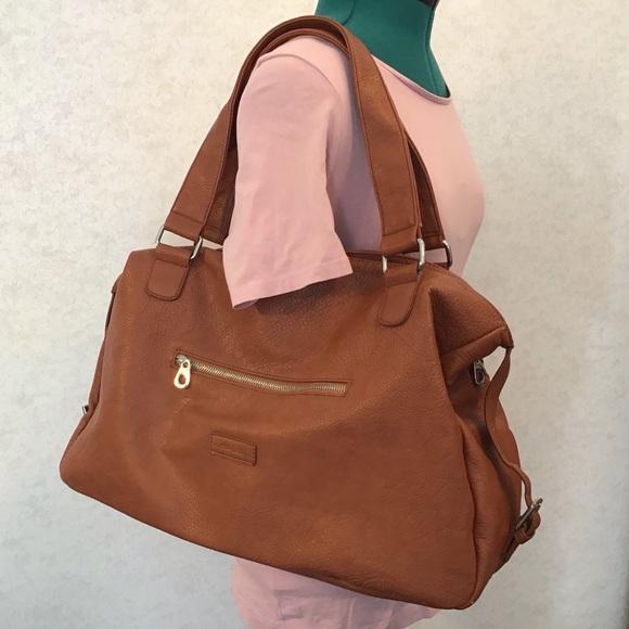 CO LAB Peanut-coloured Vegan Large Hobo Bag